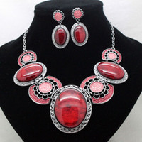 Chokers Jewelry Sets Fashion fashion brand green high quality party jewelry sets costume vintage fancy necklace and earrings sets for women free shipping