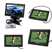 Wholesale 7 quot TFT LCD Color Monitor Rear View Backup CCD Camera System Car Truck Auto RV