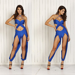 Hot Sale Fashion Lady Women's Sexy Suits Jumpsuits Irregular pants Evening Dress Jumpsuit For Club Wear Nightclub party