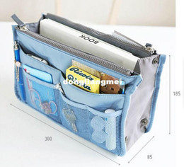 Wholesale 110pc Makeup Bag Purse Cosmetic MP3 Mp4 Phone Storage Organizer Sundry Bags Cosmetics Bags Multi Two Zipper Bag Factory Price Z18