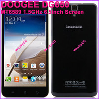Wholesale Mini Pad Cell Phones DOOGEE DG650 Android Smart MTK6589T GHz G G inch Screen px Tablet PC Camera MP OTG NFC Free EMS DHL
