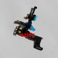 Wholesale Original New Proximity Sensor Light Motion Flex Cable With Front Face Camera For iPhone S Free DHL EMS