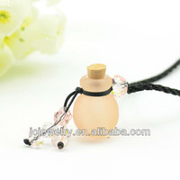 Beaded Necklaces   2014 new listing perfume necklace glass bottle living lockets pendant be jewelry classic alibaba