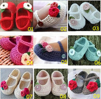 Wholesale 10 off Exclusive handmade infant toddler shoes Loafers Mix design custom Crochet Baby Shoes COTTON YARN pairs