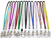 Wholesale KC1202 Rhinestone Trad Show Crystal Lanyard Keychain Card Badge ID Holder inches New Arrival