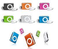 Wholesale MINI clip MP3 Player MicroSD card TF SD card Slot with mini MP3 earphone usb no box no memory card