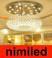 nimi218 Бесплатная доставка Новый современный дизайн Супер отель освещение лампы подвесной светильник Droplight потолочные Хрустальные люстры лоббистской Hall