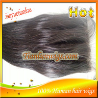 Brazilian Hair Natural Color Straight Cheap Stock Brazilian Virgin Human Hair Three Part Silk Base Lace Closure 4x4 Three Part Silk Lace Top Closure Free Shipping!!!