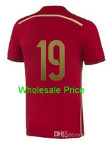 Thailand Quality Spain Diego Costa #19 Soccer Jerseys, Spain ...
