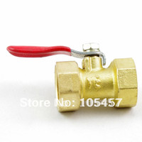 Zhejiang, China (Mainland) Valve Balls - 20pcs quot BSPP Threaded Air Female Female Full Ports Brass Ball Valve directly from manufacturer