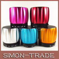 Wholesale Colorful Pumpkin Bluetooth S13 Mini Portable Cellphone Speaker Subwoofers Sound Box TF Card Music Player for iPhone S Samsung note3