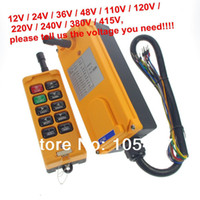 New HS-10 yellow 4 Motions 10 Channels 1 Speed Hoist Crane Truck Radio Remote Control System Controller Tell us the voltage you need