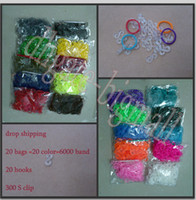Wholesale drop shipping bag colors bags bands rainbow loom bands colorful Rubber refill bag DIY band bracelet
