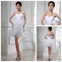 Other Model Pictures Sweetheart Sexy Design 2014 White Real Models Modest Short Wedding Gowns Organza Feather Wedding Dresses