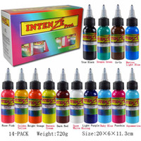 Wholesale Set Of Bottles Intenze Tattoo Ink Colors x1OZ Pigment Supply Best Quality