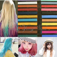 Temporary Hair Color  24 Colors Easy Fast Non-toxic Temporary Crayon Pastel Hair Dye Coloring Chalk Set DIY