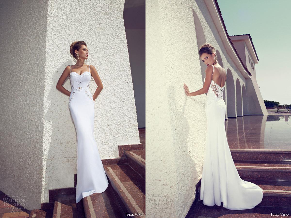 Elegant Julie Vino 2014 Wedding Dresses Lace Applique