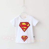 Wholesale New Baby Boys Superman Printed Summer T Shirt Children Pattern Short Sleeve Tops Kids Fashion Blouse