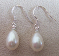 Wholesale Natural freshwater pearl earrings pearl jewelry OL Fashion silver jewelry