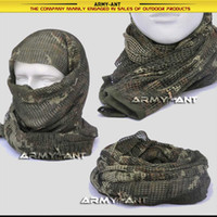Wholesale Russian YEGER Woodland Camo Camouflage Netting Tactical Mesh Scarf Wrap Mask Shemagh Sniper Veil