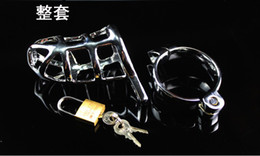 Wholesale Metal male chastity belt lock against masturbation erectile penis pants cage sm adult sex toys alternative toys