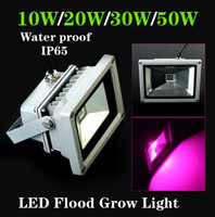 Wholesale 2014 Brand New W Blue nm Red nm Hydroponic Plant Flood LED Grow Lights Water Proof