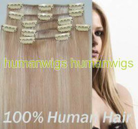 Wholesale 18 quot quot set clip in hair remy human hair extension and g set set