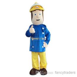 Wholesale New Arrival Fireman Sam Mascot Costume Character Mascot Costume FT20093