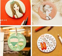 Wholesale New sweet floral print women cosmetic mirror Makeup Mirrors portable pocket mirror
