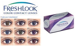 Wholesale DHL Cost free case anti counterfeiting label pairs Freshlook Contact lenses color contact lens crazy lens