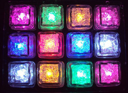 Wholesale Hot sale LED Ice Cubes Flash Light wedding Party light ice crystal Cube color flash Christmas gifts