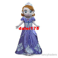 Mascot Costumes Unisex Costum Made Wholesale - 2013 New Free Shipping Deluxe Sofia the First Mascot Costume, Sofia Mascot Costume 100% Real Pictures! with helmet and mini fan