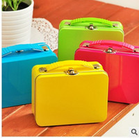 Wholesale candy colors Portable storage tin pill box jewelry vintage storage box
