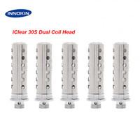 Electronic Cigarette Atomizer Core  Original Innokin iClear 30S Atomizer Core Dual Coil Head fit Innokin rebuildable iClear 30s Tank Clearomizer iTaste VV MVP SVD 134 E Cigar