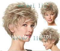 blonde wigs short hair - Stylish Casual Hair blonde Short Curly Wig