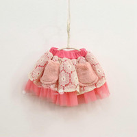 Summer Pleated  Lowest Price Baby girl TUTU skirt Lace pocket skirt pettiskirt Pleated cake dress princess summer skirt clothes