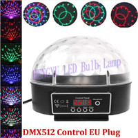 Wholesale Quality assurance LED Stage Light RGB Crystal Magic Ball Effect light DMX Control Pannel Disco DJ Party Stage Lighting