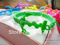 Wholesale Women Anchor Charms Bracelets Jewelry Men Fluorescent Color Handmade Friendship Shamballa Bracelet New