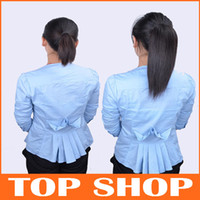 Wholesale Really short hair straight hair ponytail real human hair ponytail extension M006