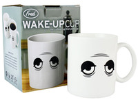 Wholesale New Change Color Cup Wake Up Magical Eye Color Cup With Big Eyes Color Temperature Ceramic Coffee Cup Creative Gift Cup Marks Y4100B