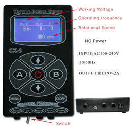 Wholesale Digital Tattoo Power Supply LCD Power CX For Professional Tattoo Machine Kits Pop