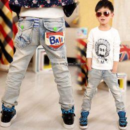 Wholesale Childrens Pants Blue Jeans Boy Pants Kids Clothing Fashion Jeans Boy Jeans Long Trousers Denim Jeans Kids Wear Children Jeans Boys Clothes