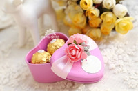 Favor Boxes Pink Metal 50Pcs Lot 2014 Style Favor Holders Wedding Boxes Personalized Creative Tinplate Trolley Candy Box
