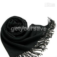 Wholesale Black Pashmina Cashmere Silk Solid Shawl Wrap Women s Girls Ladies Scarf Accessories