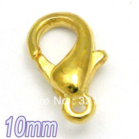 Clasps & Hooks Jewelry Findings Yes Wholesale!!! 10mm 1000pcs Good Qaulity Gold plated Metal Jewelry Claw Lobster Clasp Findings Accessories