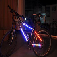 bicycle spoke decoration - Perfect Style Red Bike Bicycle Color Rainbow LED Light Bar Strip Wheel Tyre Spoke Decoration