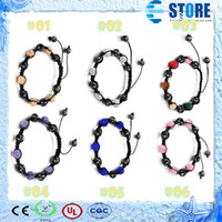 Wholesale Women dressing bangles Shambhala diamond bracelet men jewelry with Magnetic stone and Rhinestone CZ adjustable length colors M