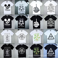 Wholesale Spring new short sleeved t shirt BRM finger bones scythe of death FUCK OF Tide brand for men and women