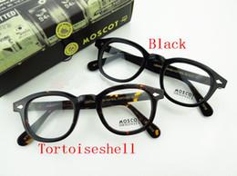 Wholesale Black and Tortoiseshell glasses frame Moscot glasses frame Johnny Depp sz L M S