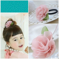 Wholesale maxi freeshipping m42 Children s hair rope CHIFFON HAIR rope hairband children s hair bands color mixed